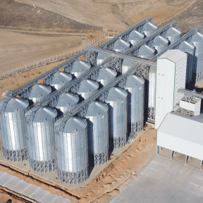 Hopper silos in Pakistan